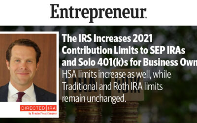 The IRS Increases 2021 Contribution Limits to SEP IRAs and Solo 401(k)s for Business Owners