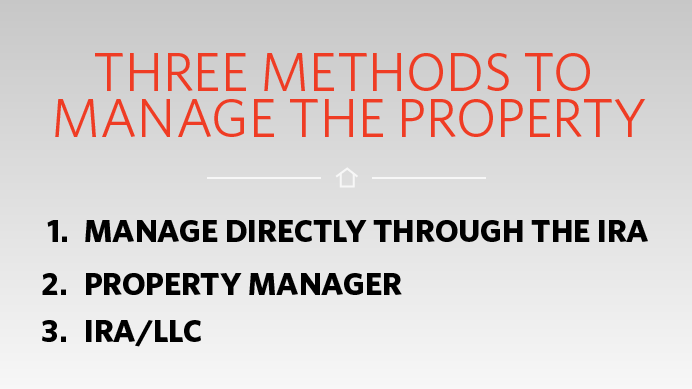 3 methods to manage property