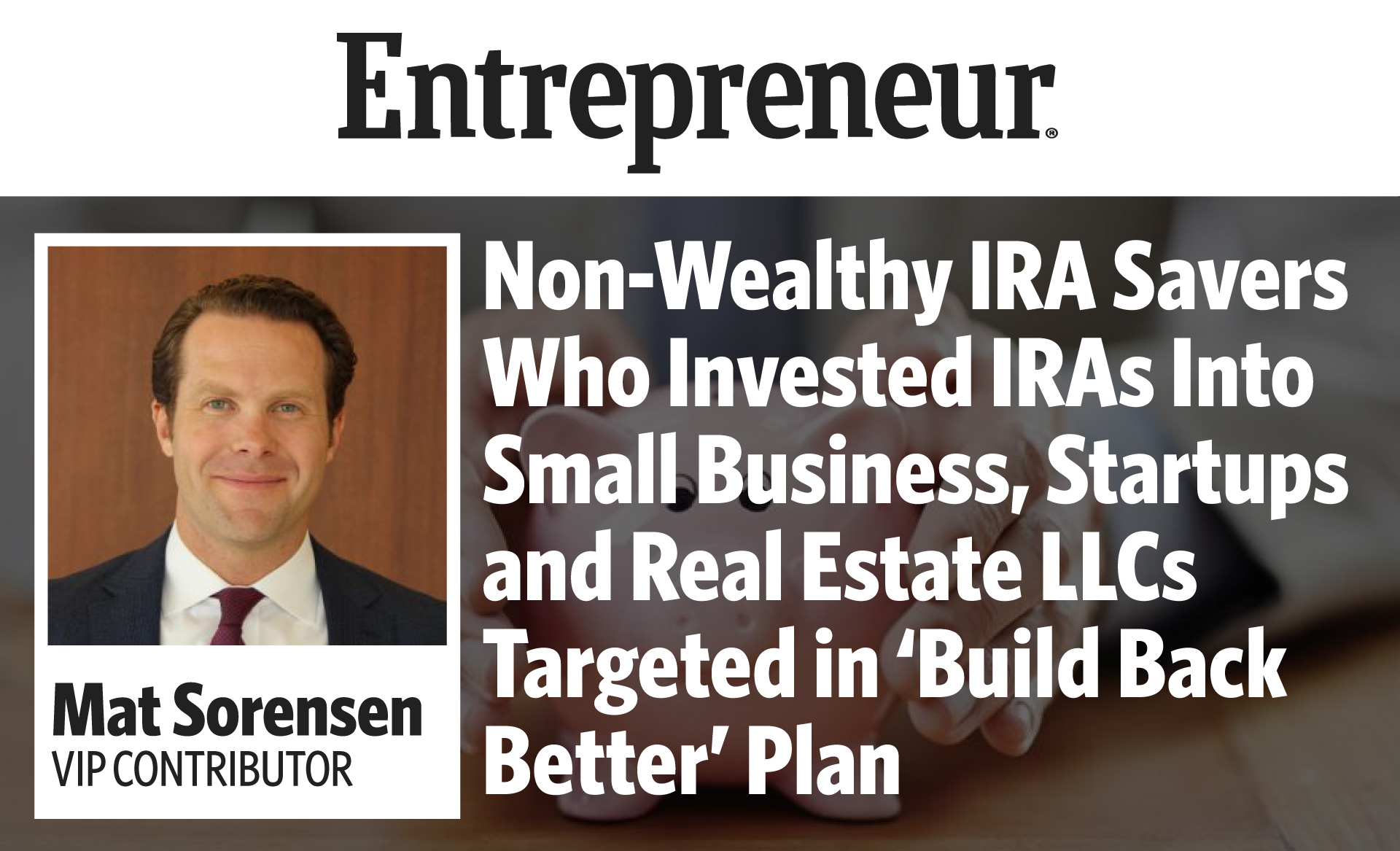 IRA Provisions Build Back Better Plan